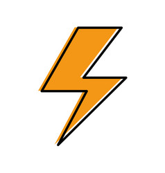 ray electric isolated icon vector image