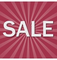 Sale paper banner vector image