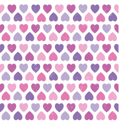 seamless hipster hearts pattern purple pink vector image