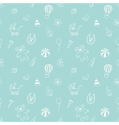 Seamless pattern with elements of children toys vector