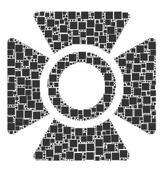 Searchlight composition of squares and circles vector