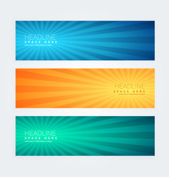 Set of colorful modern banners vector