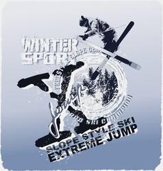 ski jump winter sport vector image