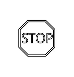 Stop line icon traffic regulatory sign vector