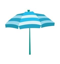 Striped beach umbrella vector image