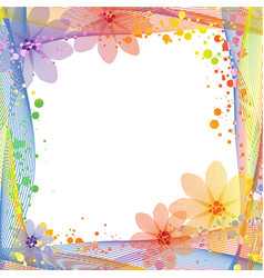 Summer multicolored frame background vector
