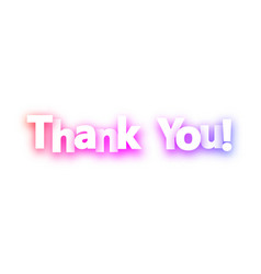 thank you spectrum banner on white background vector image