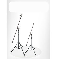Two Microphone Stand Banner vector image