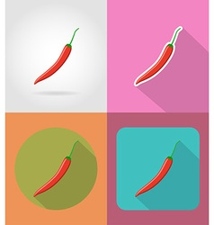 Vegetables flat icons 12 vector