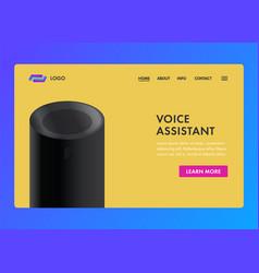 voice assistant smart sound recognition system vector image