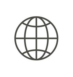 web icon line internet vector image