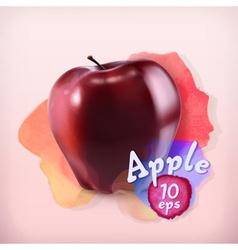 Apple fruit watercolor background vector image