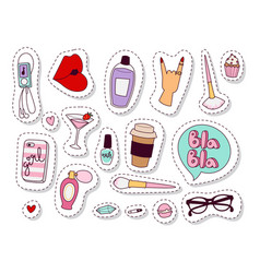 girl fashion accessories casual woman style vector image
