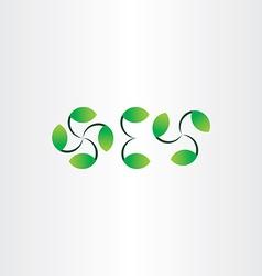 green leaf decoration set vector image