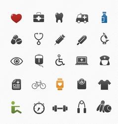 healthy and medical symbol icon set vector image