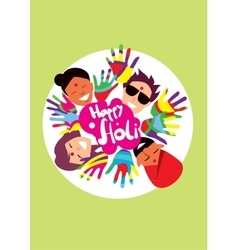 Holi festival vector image vector image