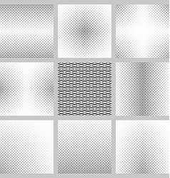 Monochrome curved shape background design set vector
