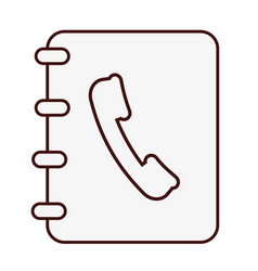 Phone directory icon vector