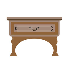 table with drawer vector image vector image