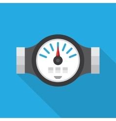 Water Meter Flat Icon vector image