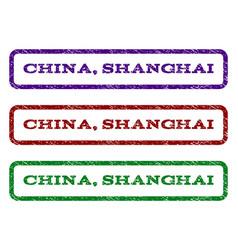 china shanghai watermark stamp vector image vector image