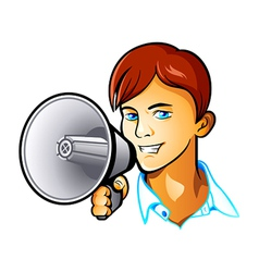 Shout out boy vector image vector image