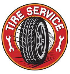 tire service label vector image vector image