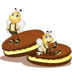 Bee biscuits vector image vector image