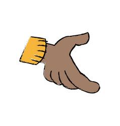 Cartoon hand part of body vector