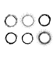 paint circle frames set vector image