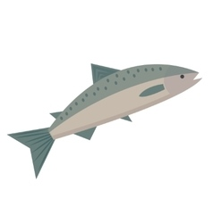 Salmon icon flat style Saltwater fish isolated on vector image