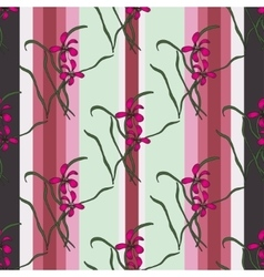 Seamless pattern with sacura spring cherry vector image vector image