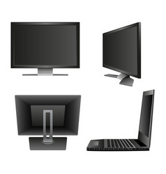 set computer monitor notebook vector image
