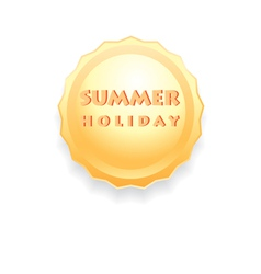 sign of the sun summer holiday vector image vector image