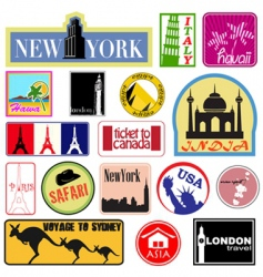 travel label set vector image