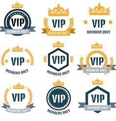 VIP Club members only logo set vector image