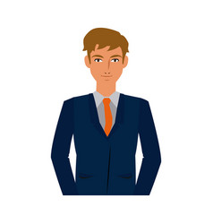character business man with suit vector image