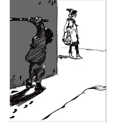 Hooligan And Victim vector image vector image