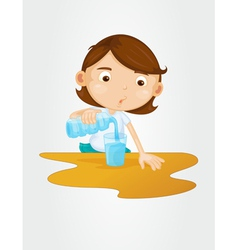 Pouring water vector image vector image