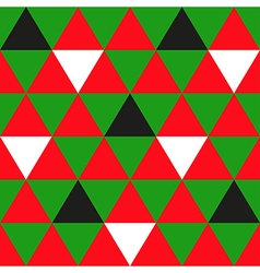 Red Green Black White Triangle Background vector image vector image