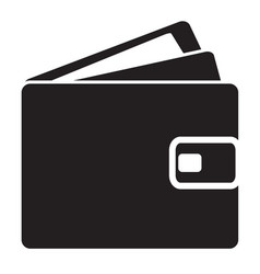 wallet icon on white background flat style wallet vector image