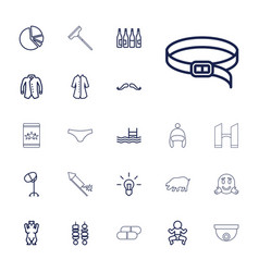 22 outline icons vector