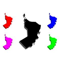 3d map of oman vector