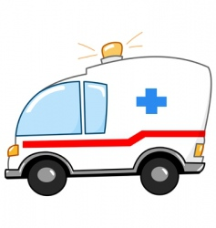 ambulance cartoon vector image
