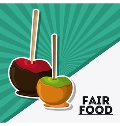 apple fair food snack carnival icon vector image