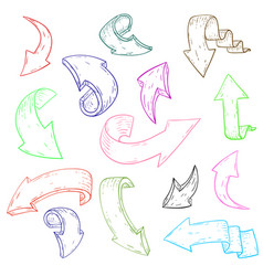 Arrows hand drawn sketch vector
