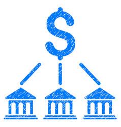 Bank organization grunge icon vector