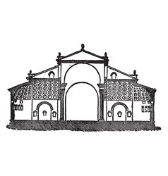 basilica of maxentius the transverse section vector image