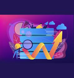 big data tools concept vector image