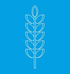 Big grain spike icon outline style vector
